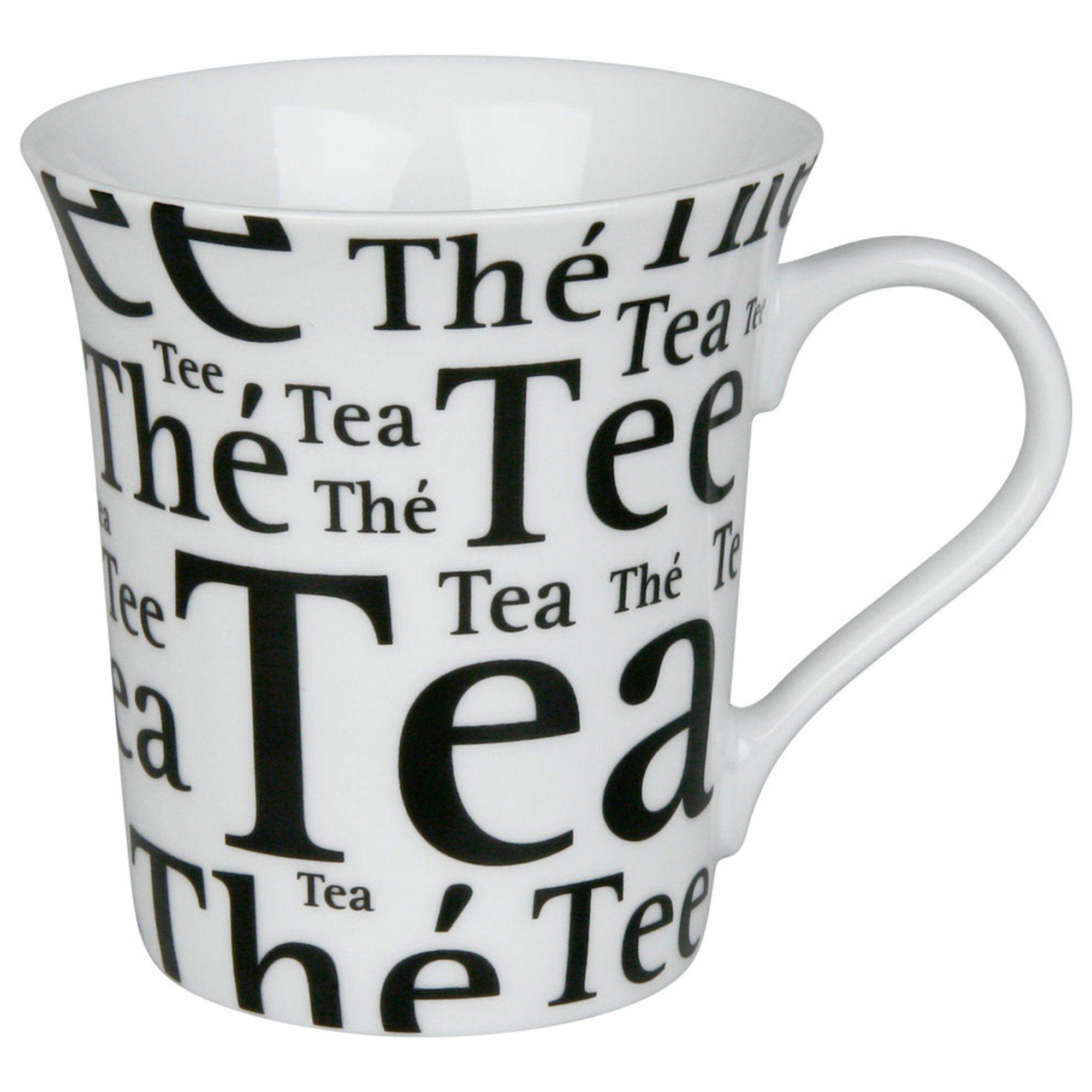 Könitz Tee Schrift auf Weiß