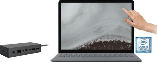 Microsoft Surface Laptop 2 Notebook (34,29 cm/13,5 Zoll, Intel Core i5, 128 GB SSD, inkl. Dockingstation)