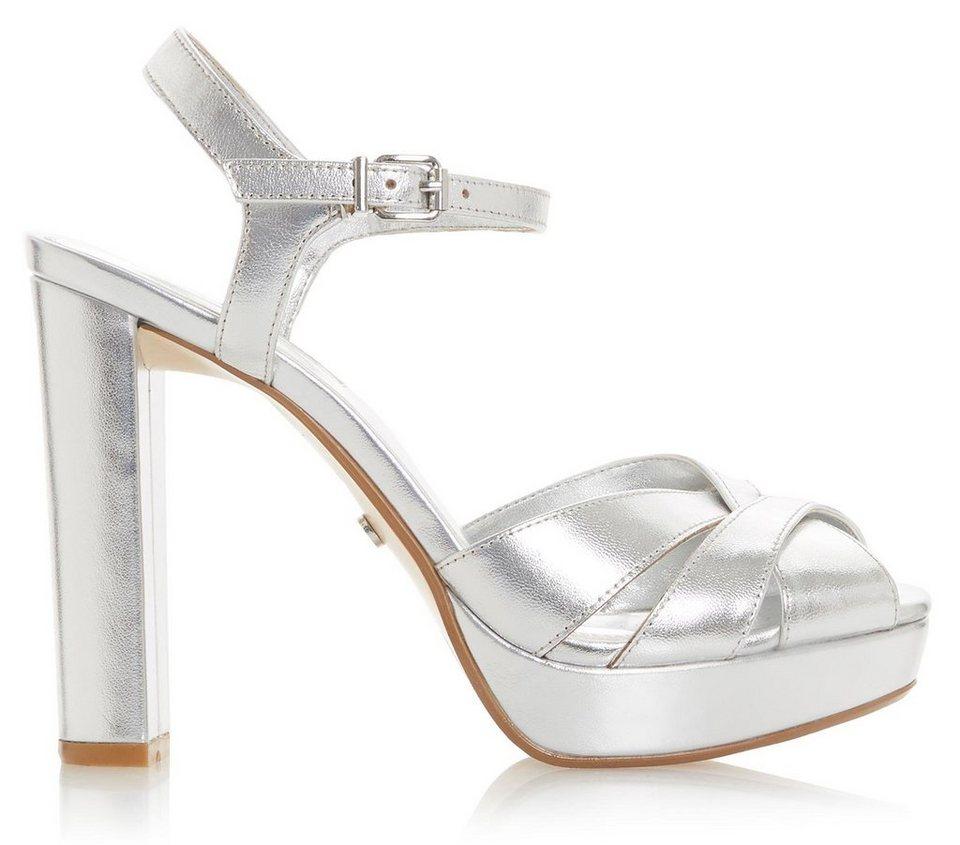 fe8bc427ae9b45 Dune London »Maggie« High-Heel-Sandalette mit schönem Metallic-Schimmer