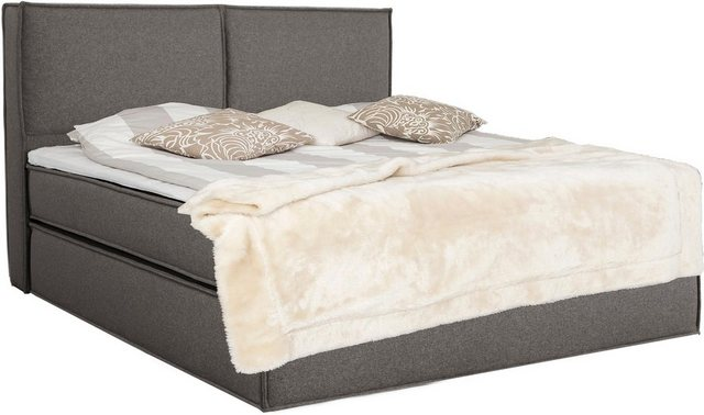 Places of Style Boxspringbett »Lorena« (inklusive Visco-Topper) | Schlafzimmer > Betten > Boxspringbetten | Braun | Places of Style