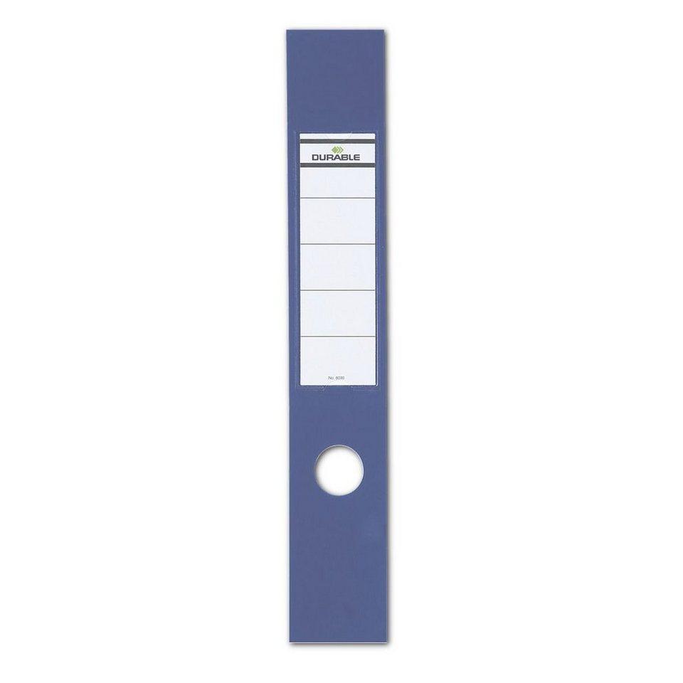 Durable Selbstklebende Rückenschilder »Ordofix« in blau