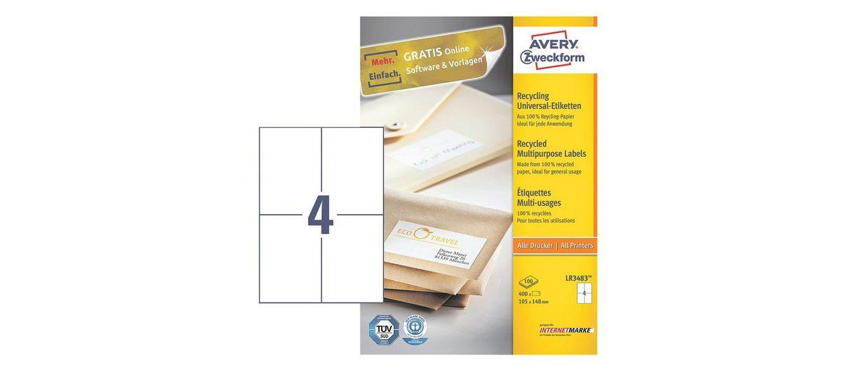 Avery Zweckform 400er-Pack Universal Klebeetiketten »LR3483«