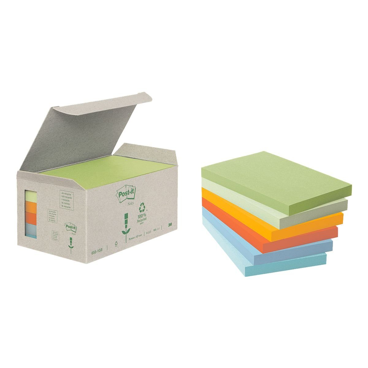 Post-it Notes (Recycle) 6er-Pack Haftnotizblöcke »Recycling Notes 655«