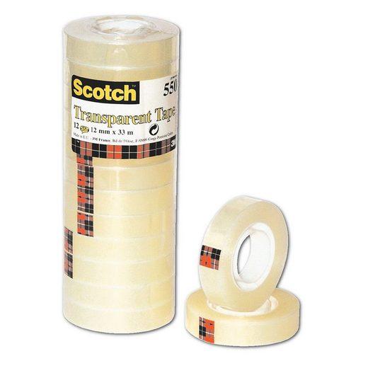 SCOTCH Klebeband-Set transparent, 12 mm/33 m (B/L) »550«