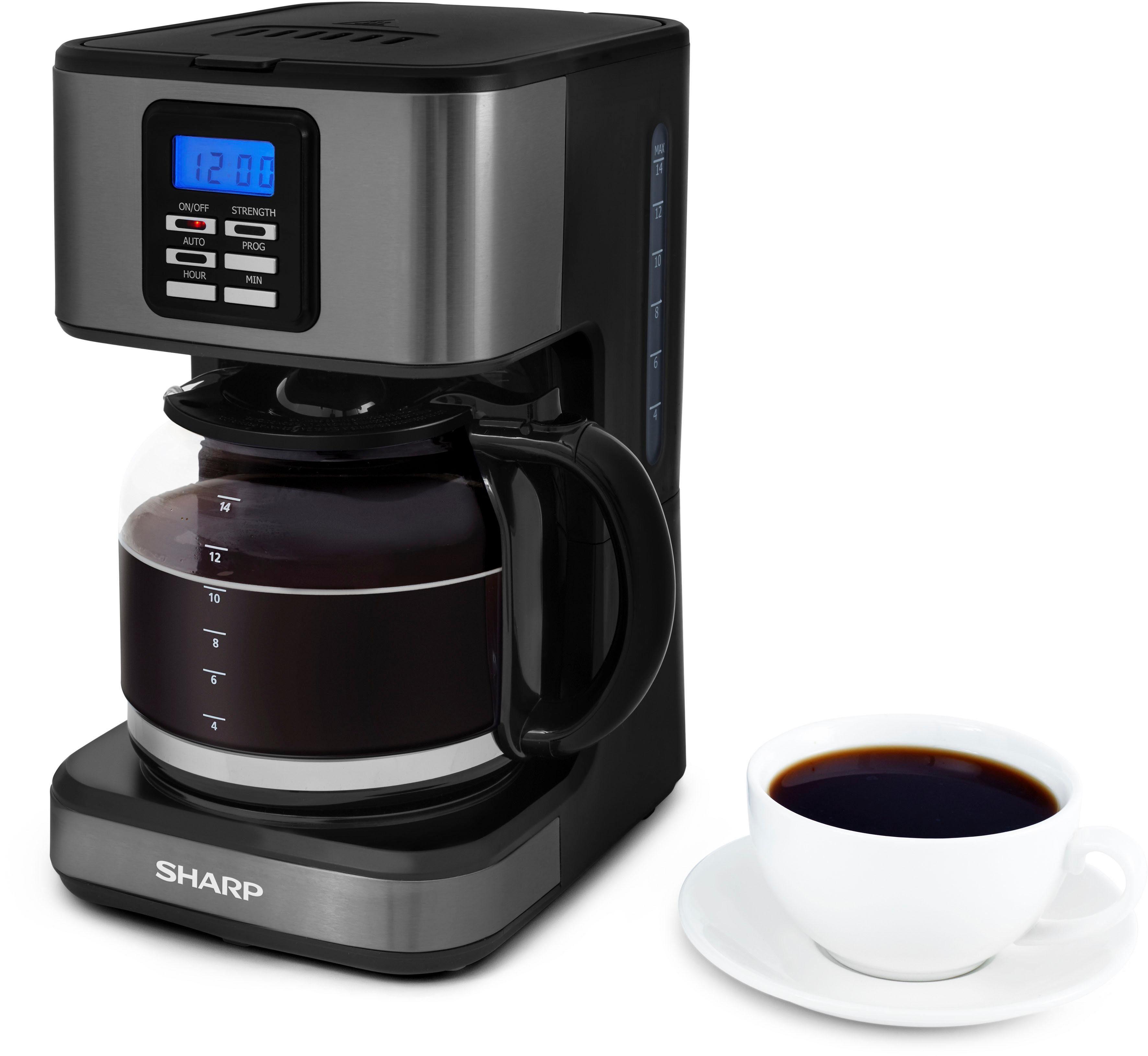 Sharp Filterkaffeemaschine SA-BC2002A, 1,8l Kaffeekanne, Permanentfilter 1x4