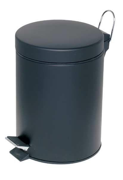 Alco Abfallsammler mit Trittmechanik - 5 Liter in schwarz