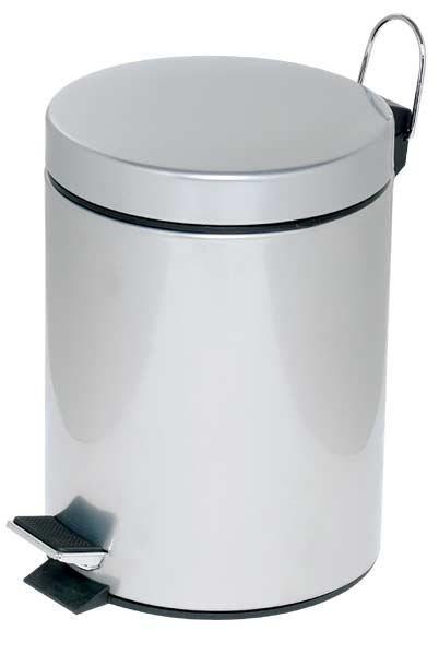 Alco Abfallsammler mit Trittmechanik - 12 Liter in silber