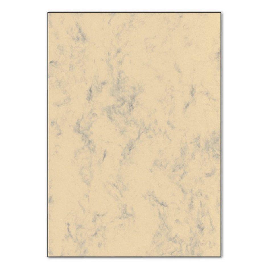 Sigel Marmorpapier in beige