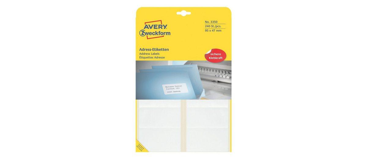 Avery Zweckform 240er-Pack Adressaufkleber »3350«