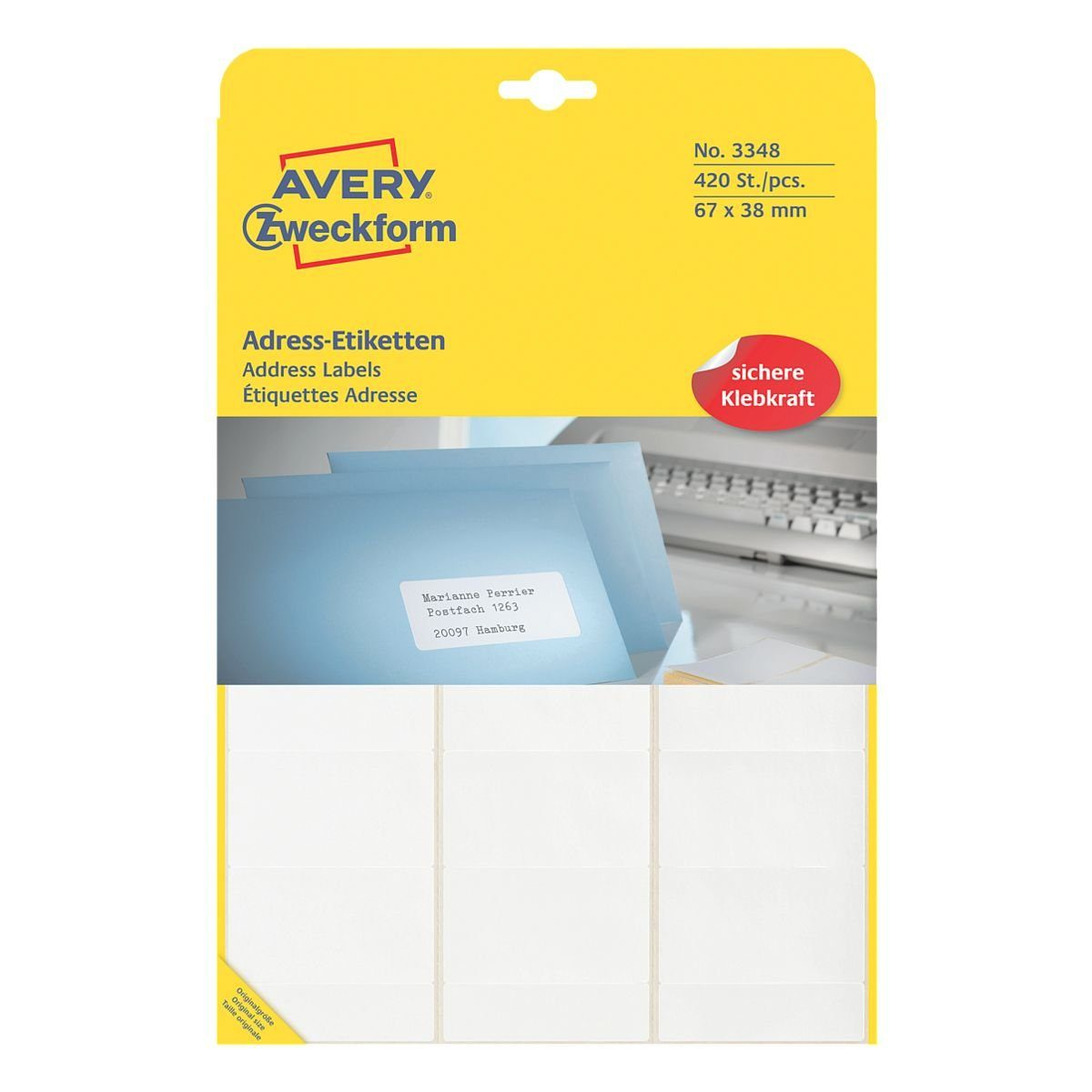 Avery Zweckform 420er-Pack Adressaufkleber »3348«