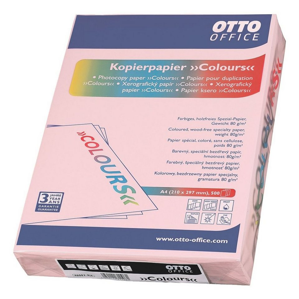 OTTO Office Standard Farbiges Papier »COLOURS« in rosa
