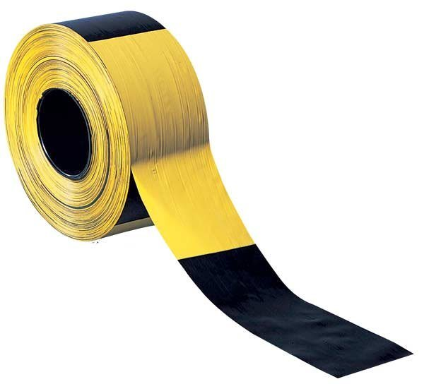 Absperrband / Warnband in schwarz