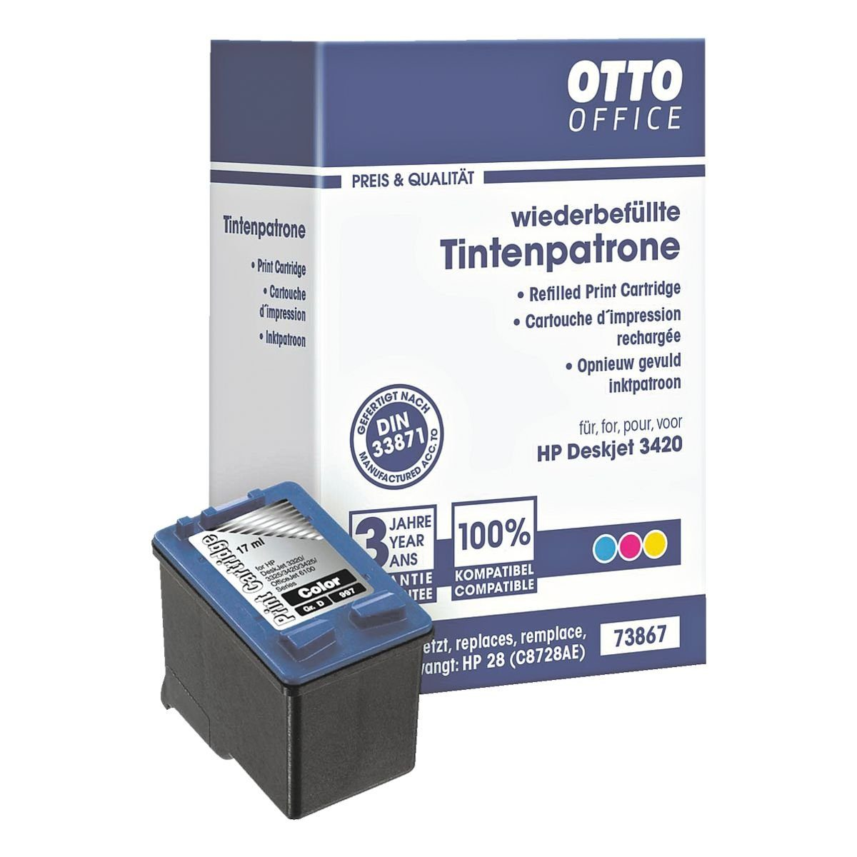 OTTO Office Standard Tintenpatrone ersetzt HP »C8728AE« Nr. 28