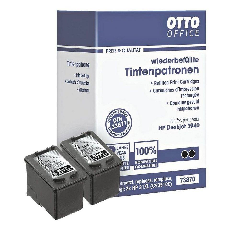OTTO Office Standard Doppelpack Tintenpatronen ersetzt HP »C9351AE« Nr. 21