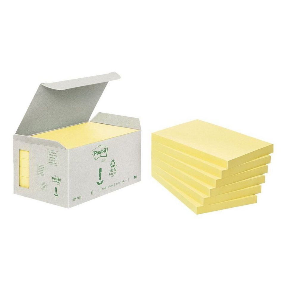 POSTITNOTES 6er-Pack Haftnotizblöcke »Recycling Notes 655«