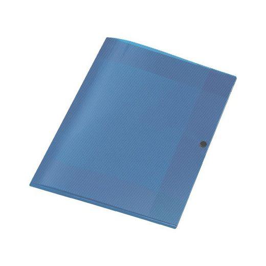 VELOFLEX Sammelbox A4 mit Druckknopf »Crystal«