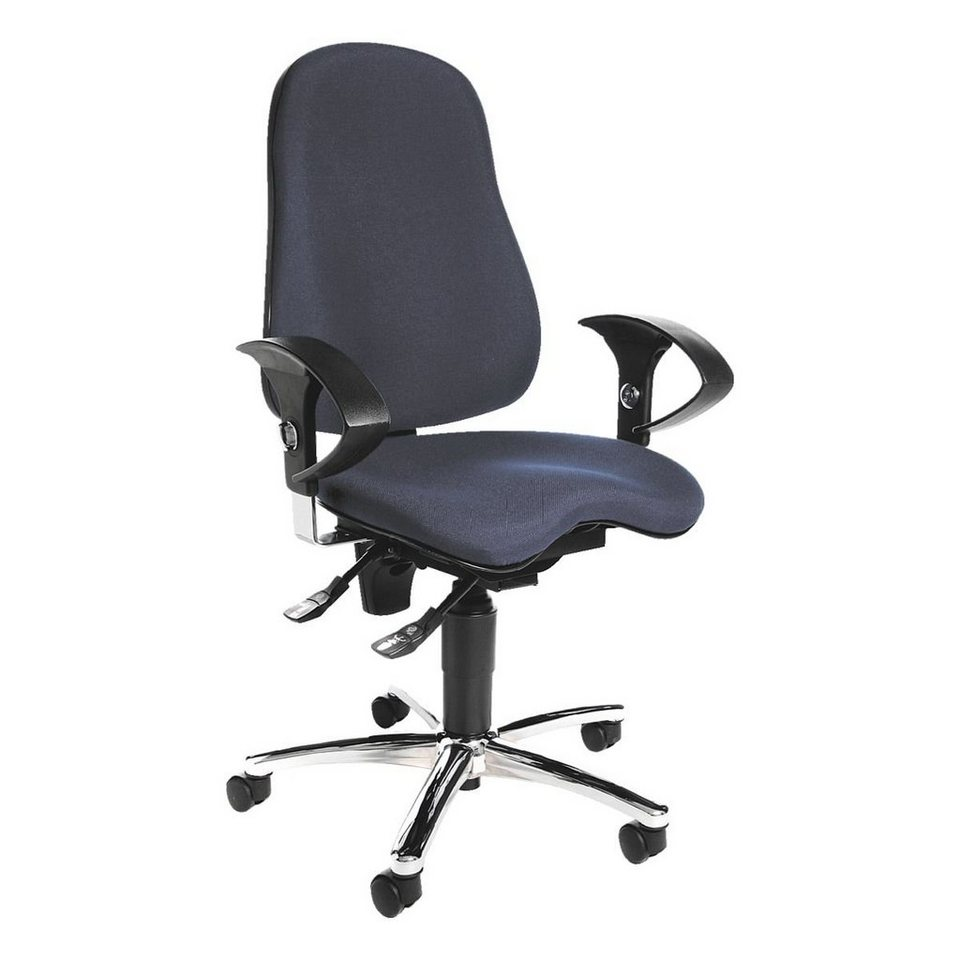 Topstar Bürostuhl »Sitness 10« mit Armlehnen in blau