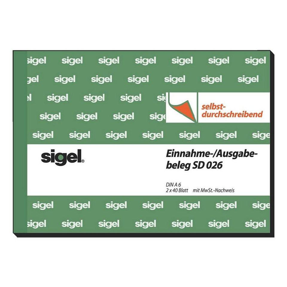 Sigel Formularbuch »Einnahme-/Ausgabebeleg mit Dokumentendruck...