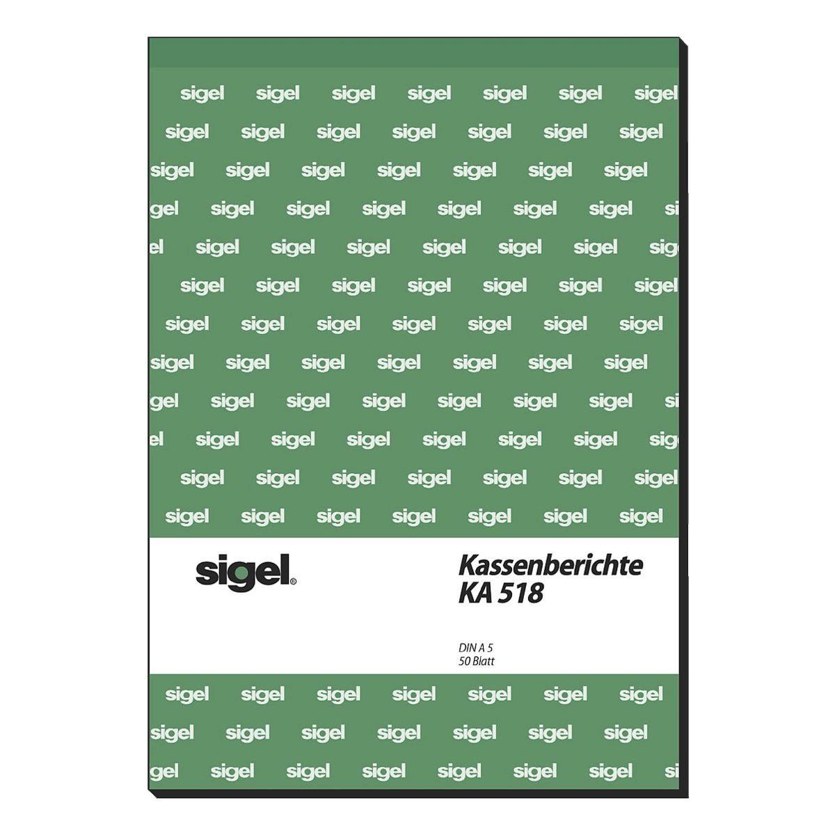 Sigel Formularbuch KA518 »Kassenbericht/Bestandsrechnung«