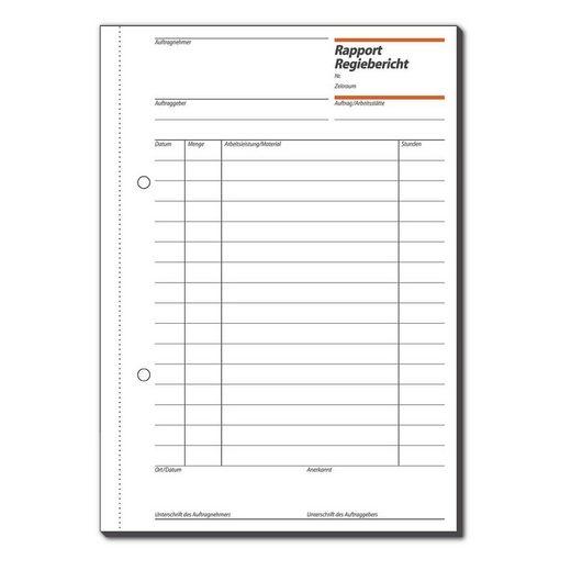 Sigel Formularbuch RP510 »Rapport/Regiebericht«