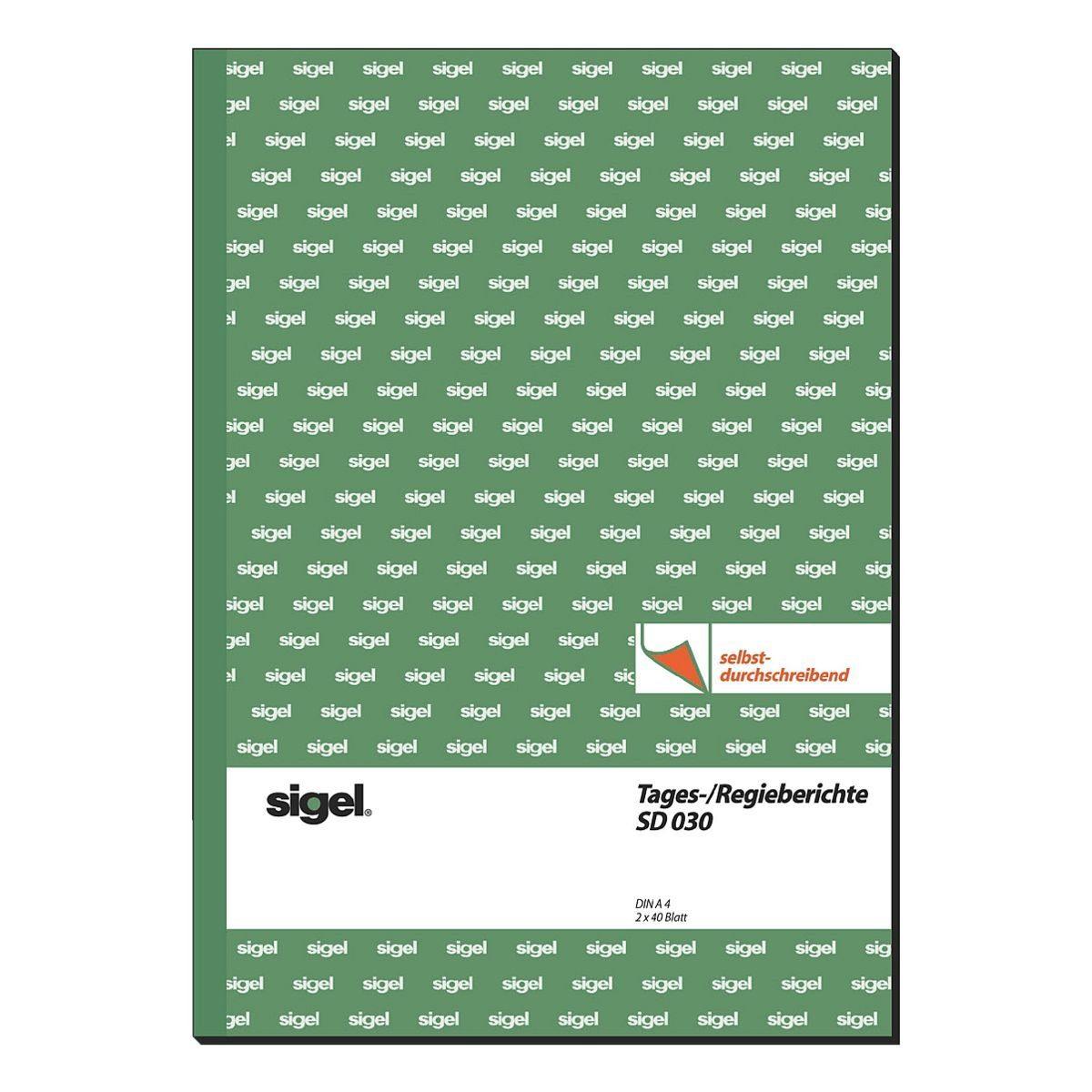 Sigel Formularbuch SD030 »Tages-/Regiebericht«