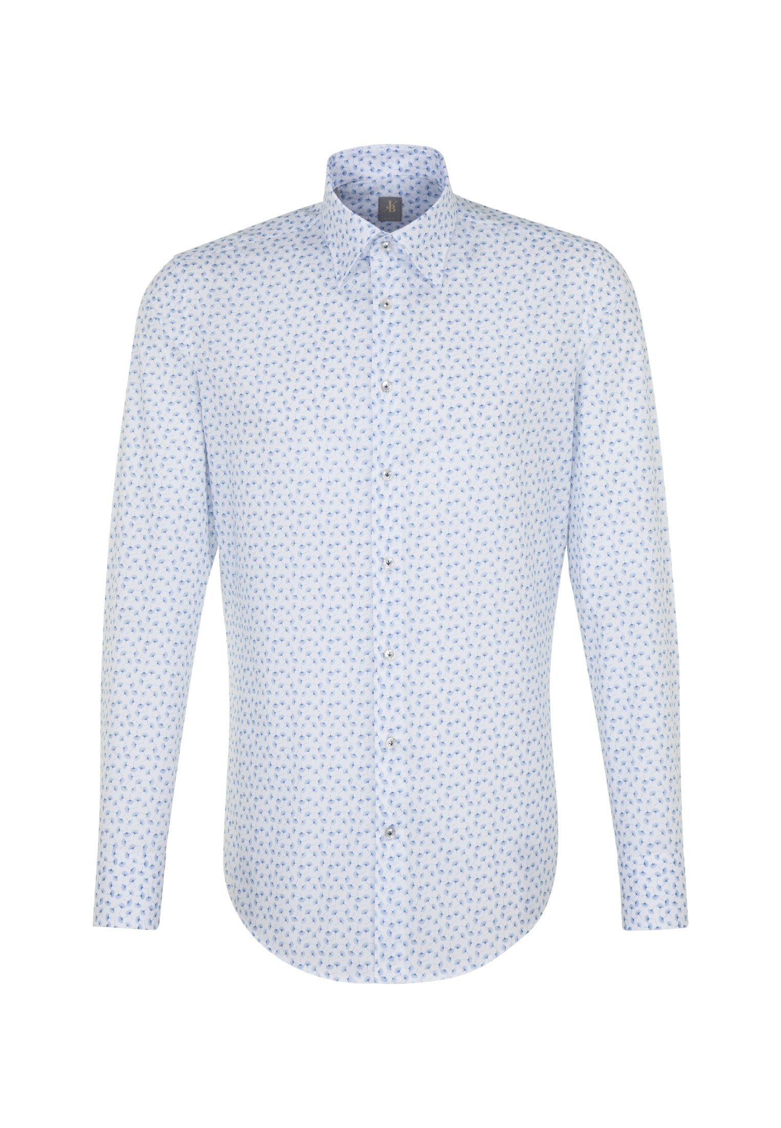 Jacques Britt Businesshemd »Slim Fit« Slim Fit Langarm Under-Button-Down-Kragen Print