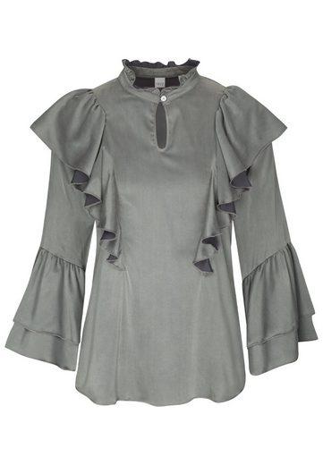 seidensticker Klassische Bluse »Schwarze Rose« 3/4 Arm Kragen Uni