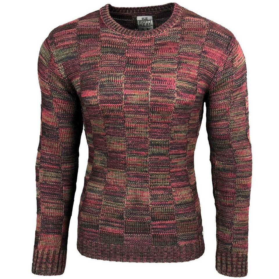 the latest 9d460 2d4dd Rusty Neal Pullover mit modischem Karo-Muster   OTTO