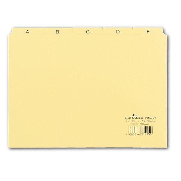 Durable Leitregister in gelb