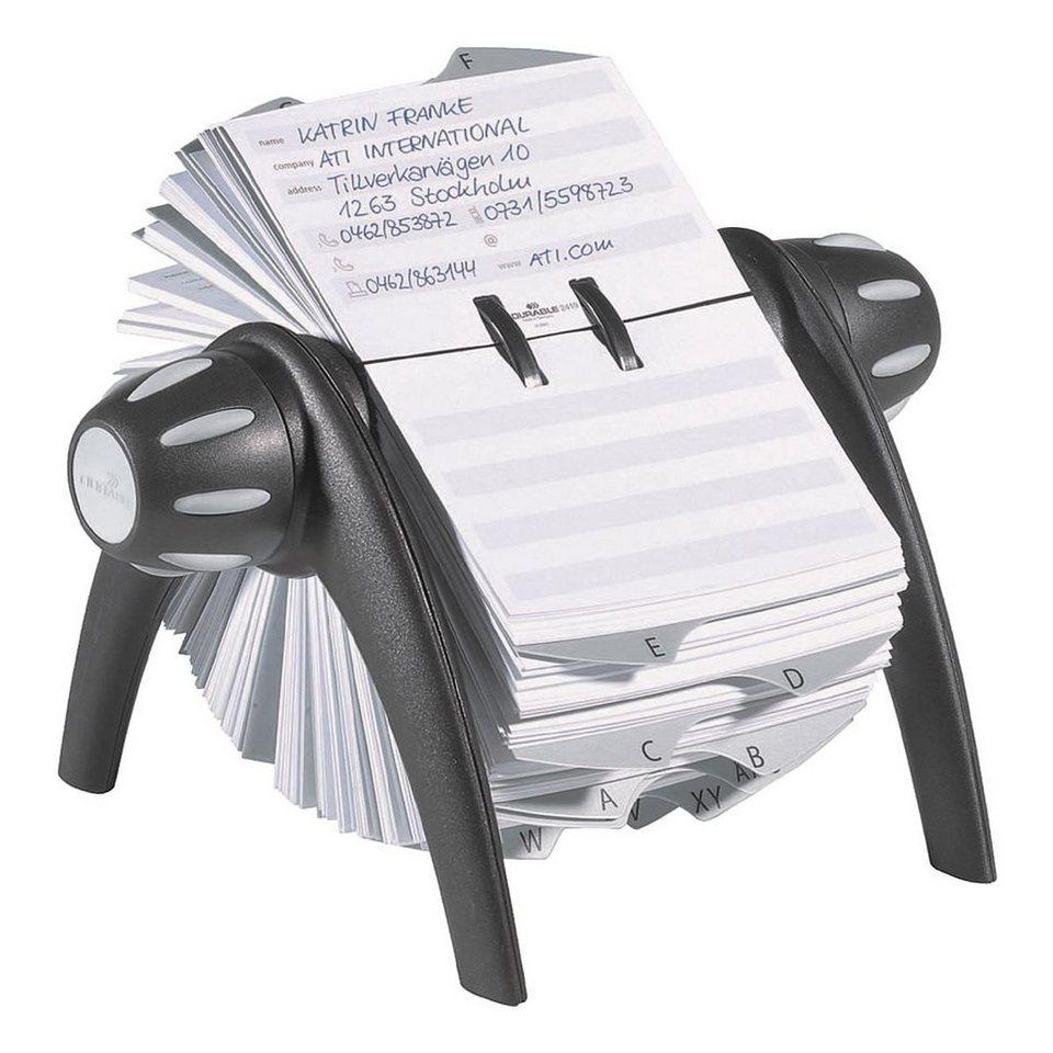 Durable Rollkartei »Telindex Flip« in schwarz