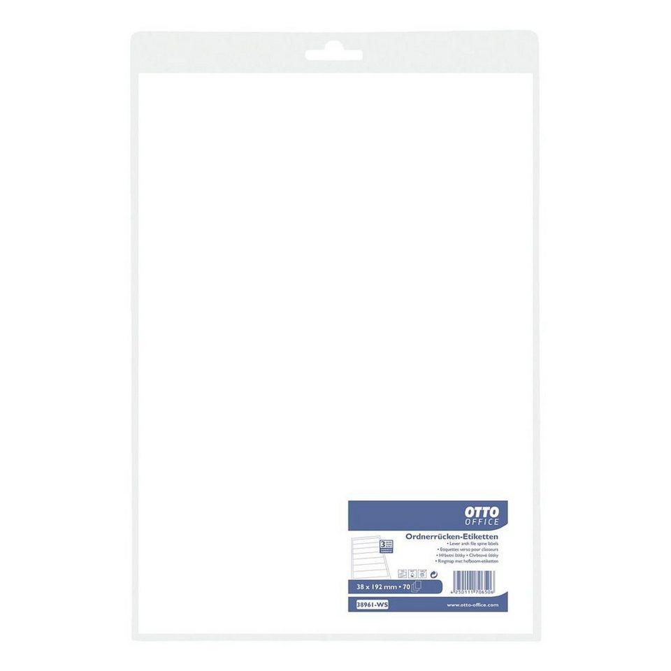 OTTO Office Standard Ordnerrücken-Etiketten in weiß