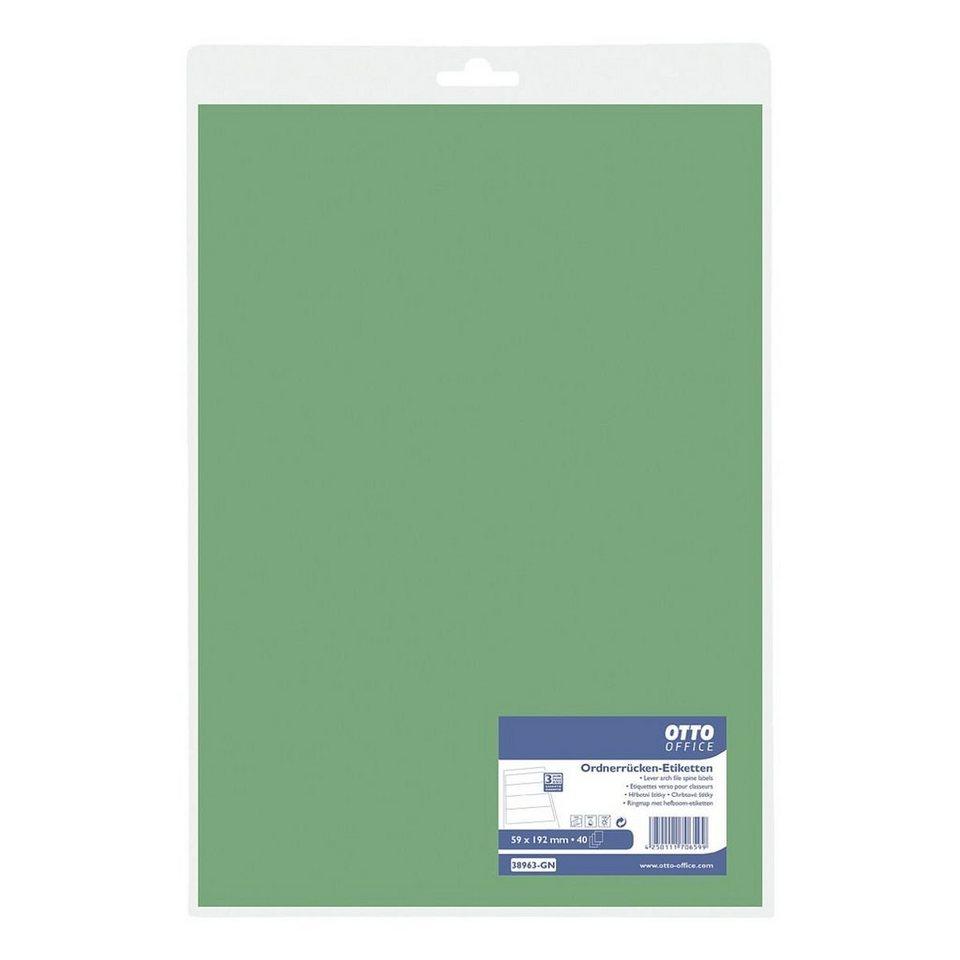 OTTO Office Standard Ordnerrücken-Etiketten in grün