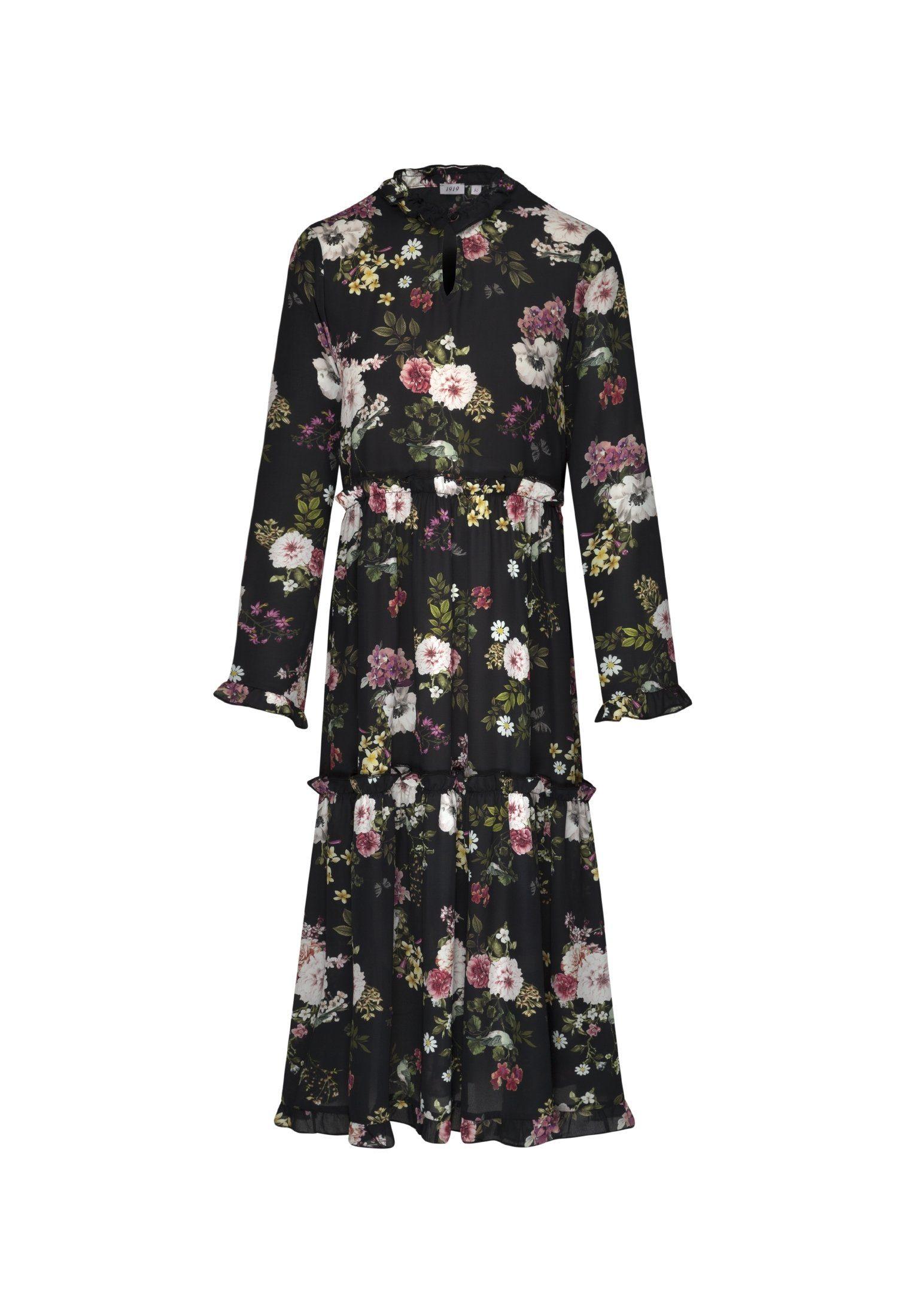 Rose« Uni V neck Online Kaufen Langarm Seidensticker Sommerkleid »schwarze fY7bv6gy