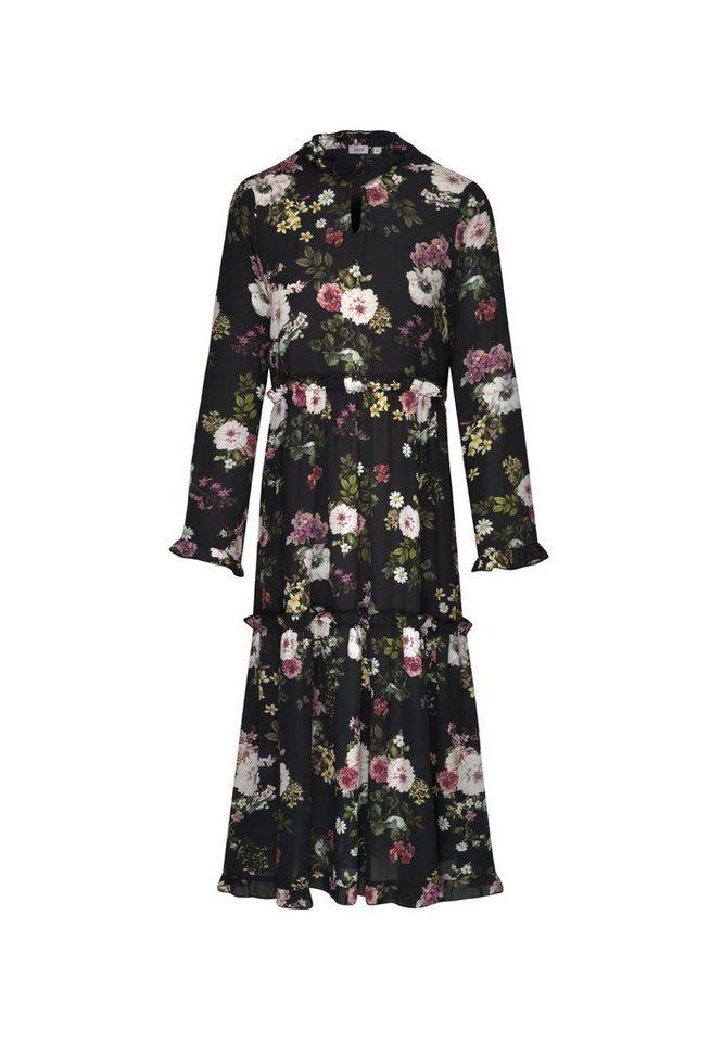 7327713257fd6f seidensticker Sommerkleid »Schwarze Rose« Langarm V-Neck Uni online ...