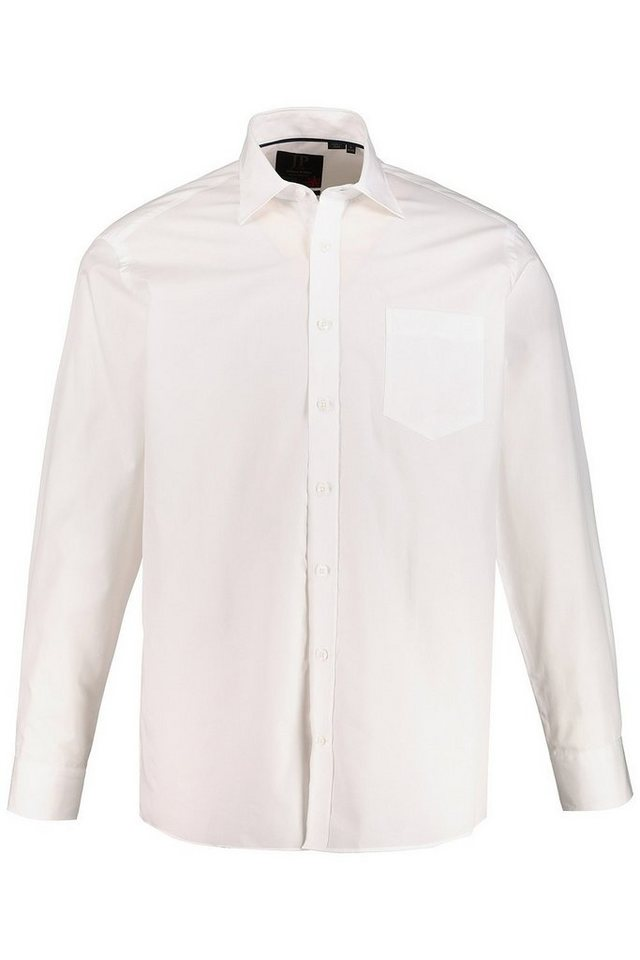 Herren JP1880 Langarmhemd bis 7XL Hemd Businesshemd Anti-Smell Kentkragen Brusttasche Modern Fit Premium-Qualität weiß | 04056089688611