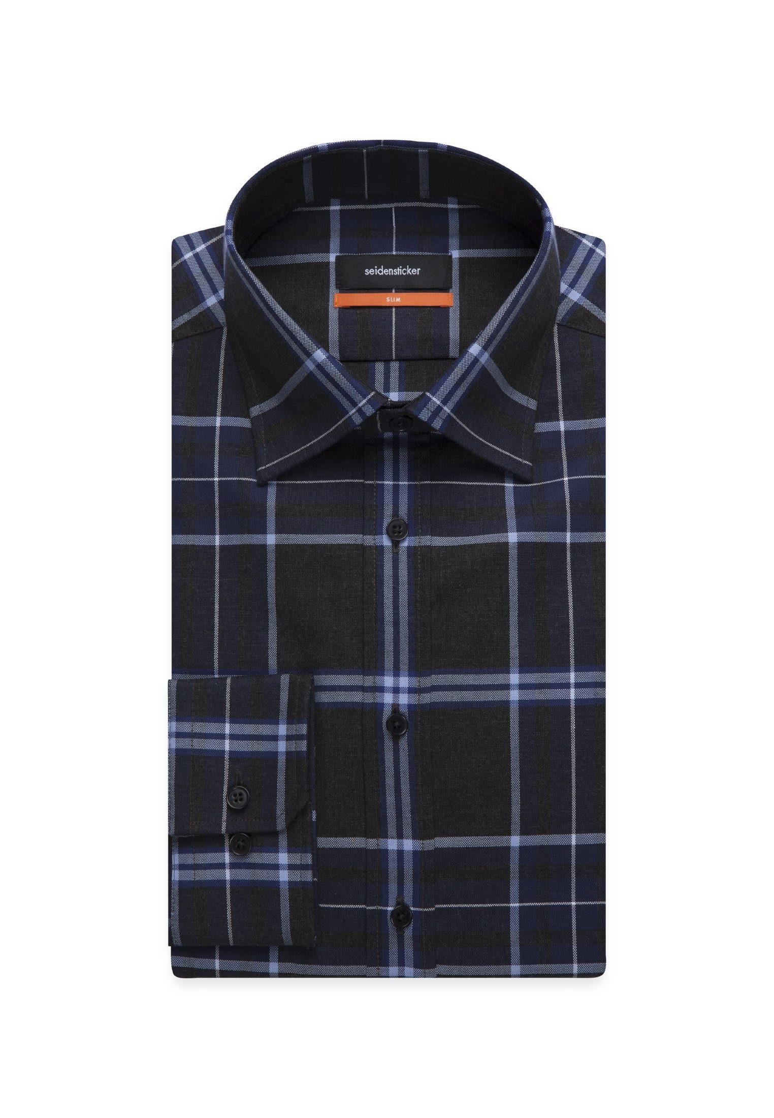 Kaufen »slim« Karo Covered down Online Slim Businesshemd button kragen Seidensticker Langarm uTF13KJlc