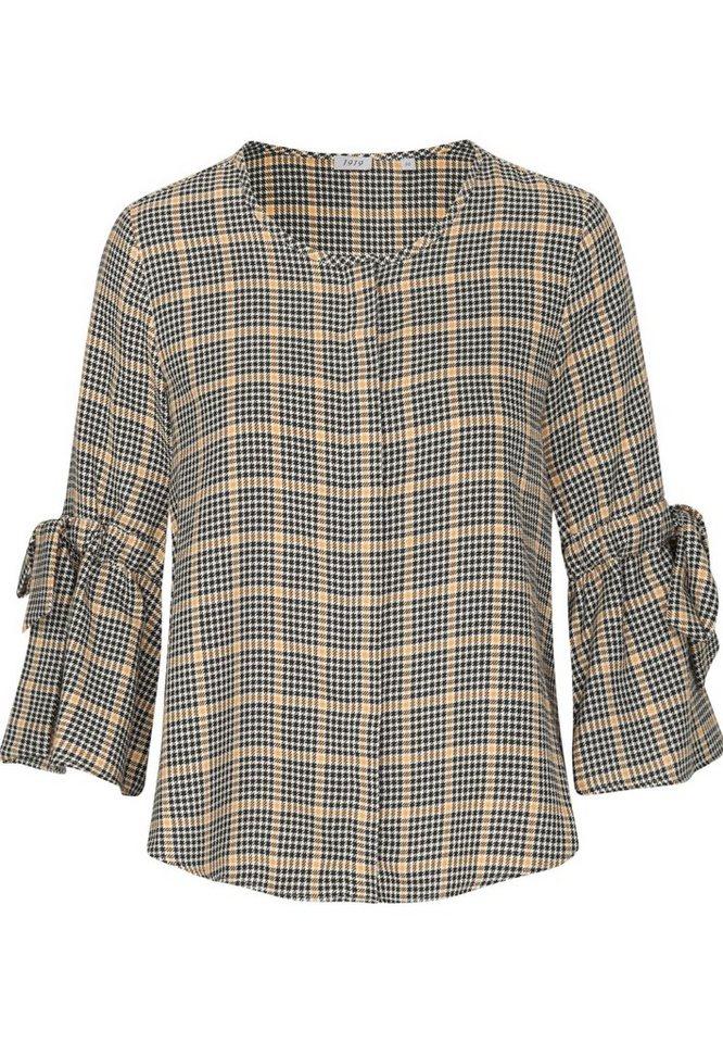 seidensticker shirtbluse schwarze rose 3 4 arm rundhals karo online kaufen otto. Black Bedroom Furniture Sets. Home Design Ideas