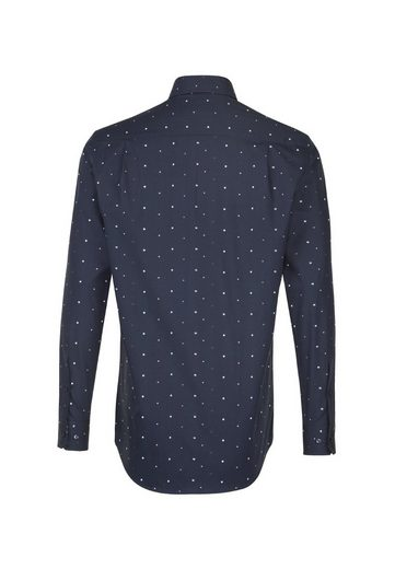 seidensticker Businesshemd »Modern« Modern Langarm Covered-Button-Down-Kragen Print