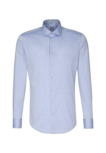 Jacques Britt Businesshemd »Slim Fit« Slim Fit Langarm Kent-Kragen Uni