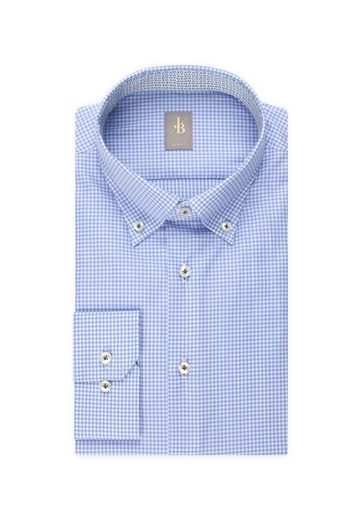 »slim Langarm Blau Jacques Button kragen Karo Fit« Businesshemd Fit Slim Britt down W9ED2YeIHb