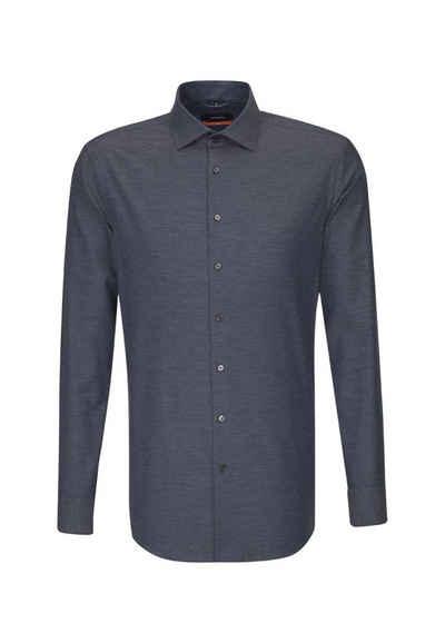 106a2a47d61447 seidensticker Businesshemd »Slim« Slim Langarm Kent-Kragen Uni