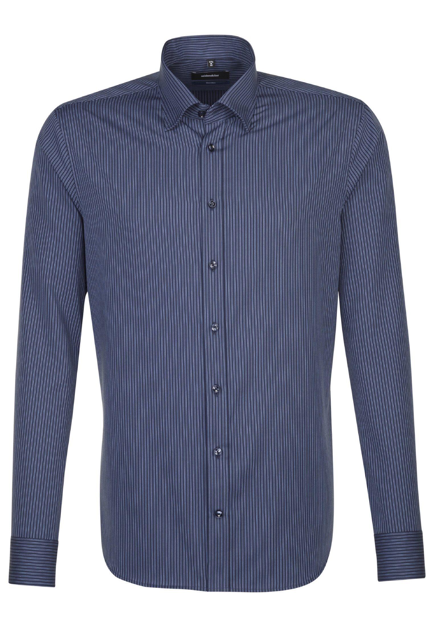 seidensticker Businesshemd »Tailored« Tailored Langarm Covered-Button-Down-Kragen Streifen