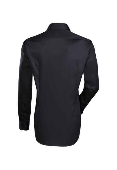 Jacques Britt Businesshemd »Blue Label« Slim Fit Langarm Kentkragen Uni