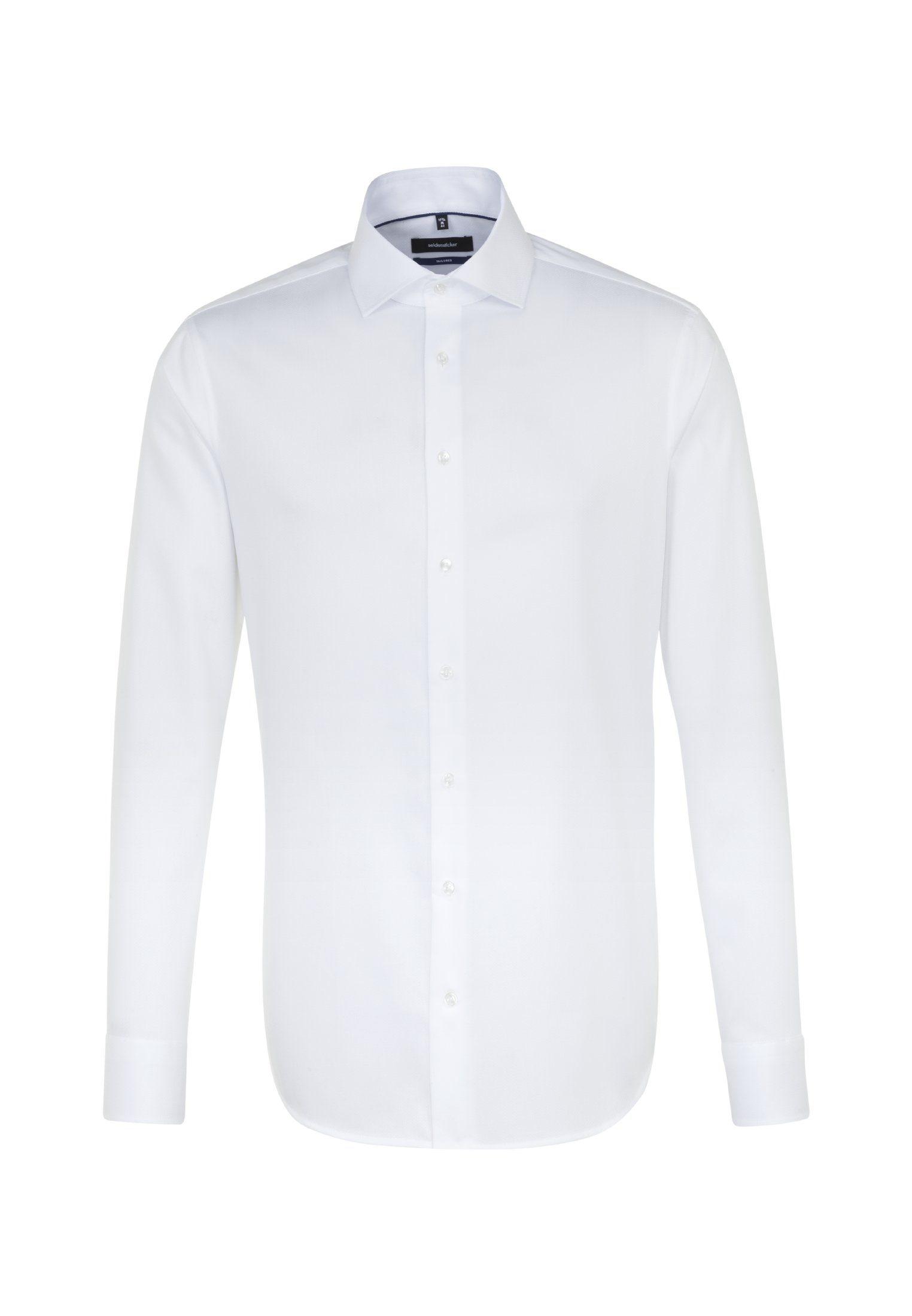 seidensticker Businesshemd »Tailored« Tailored Langarm Kentkragen Fischgrat