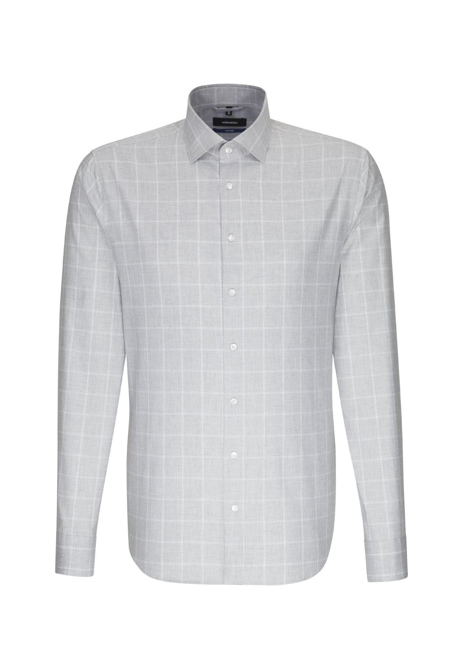 seidensticker Businesshemd »Tailored« Tailored Langarm Kent-Kragen Karo