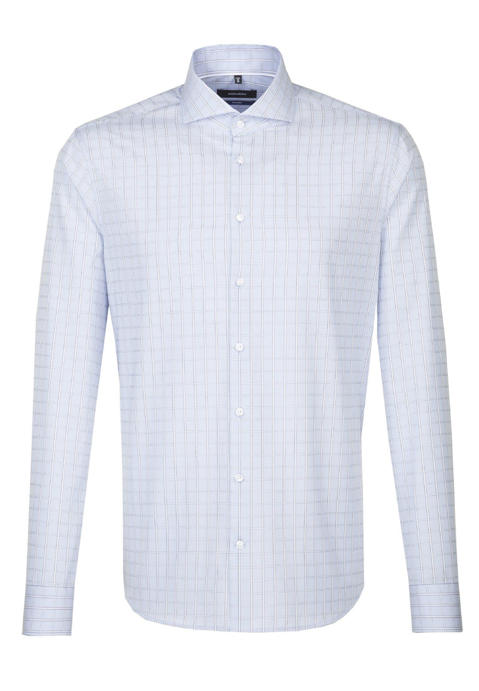 seidensticker Businesshemd »Tailored« Tailored Langarm Hai Kragen Karo online kaufen | OTTO