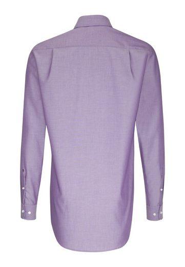 Arm Businesshemd kragen Lila Modern Seidensticker »modern« Uni Kent Extra Langer tQrBsxdCh