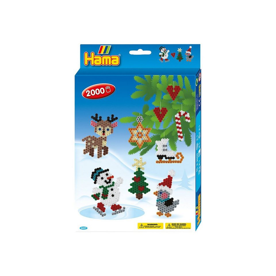 Hama Perlen HAMA 3437 Geschenkset Weihnachten, 2.000 midi-Perlen & Zubeh online kaufen