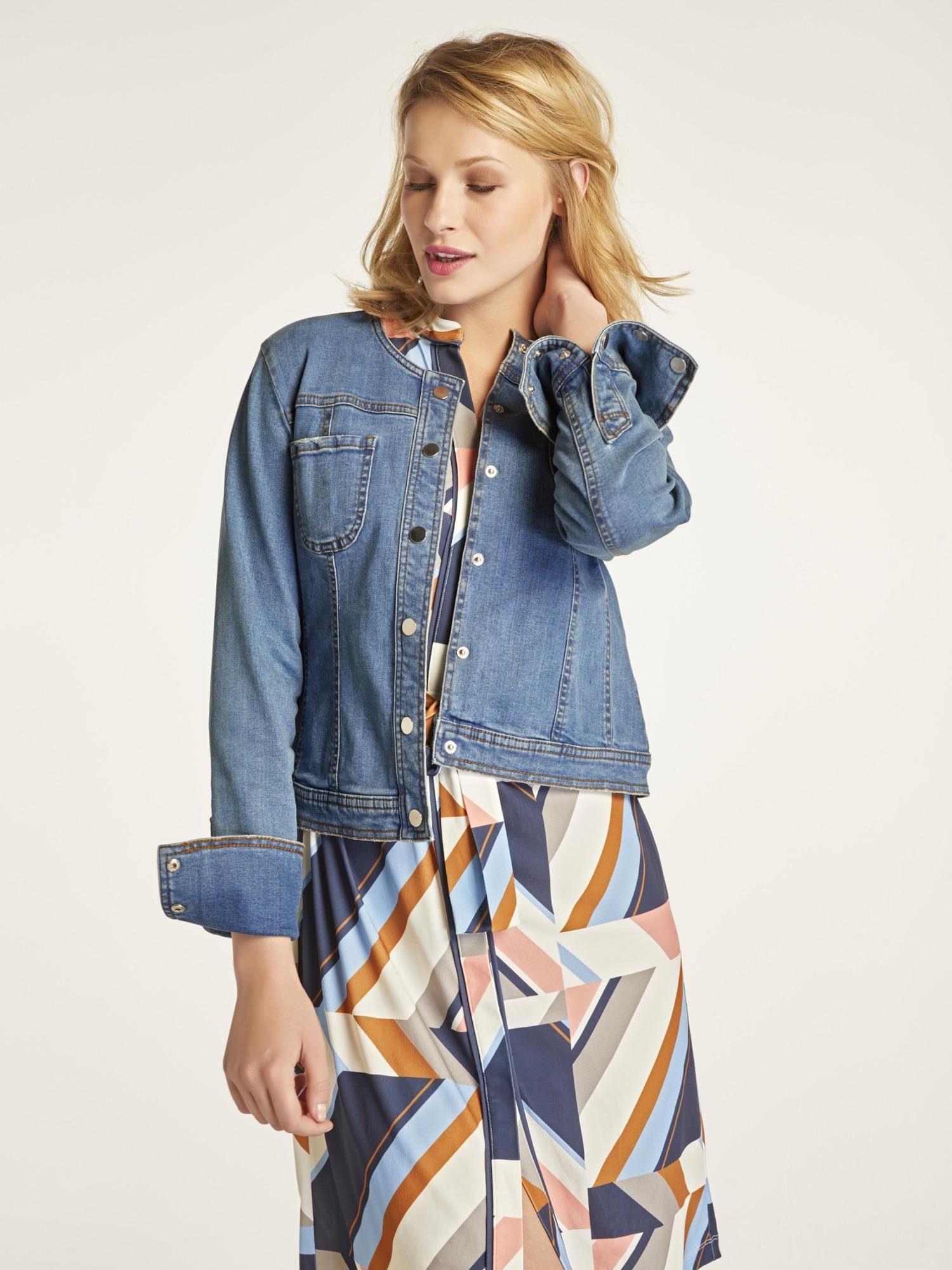 heine CASUAL Jeansjacke mit breiter Manschette