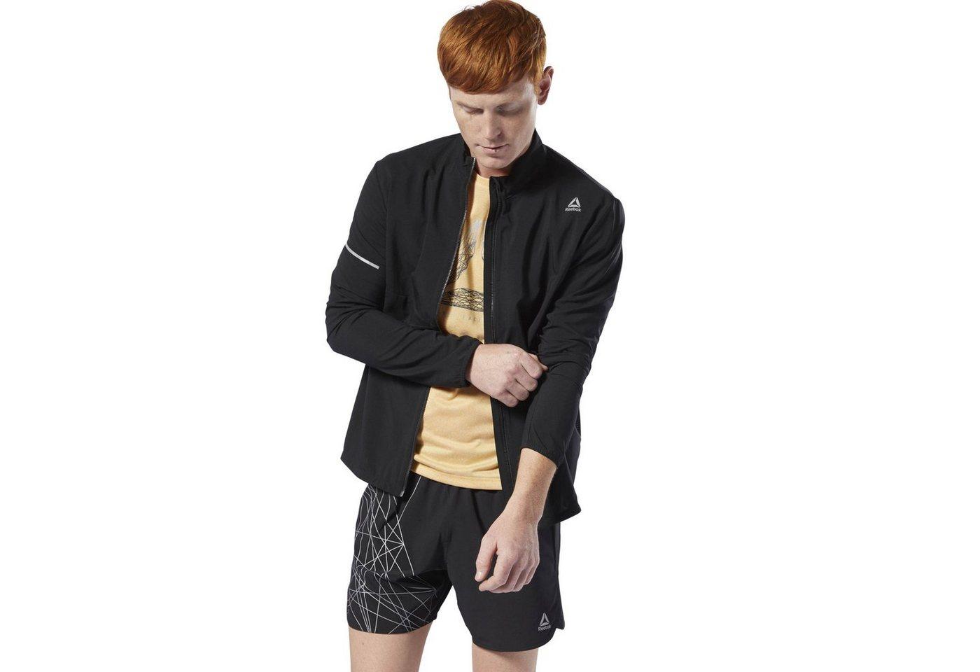 Reebok Laufjacke »Run Essentials Woven Jacket« | Sportbekleidung > Sportjacken > Laufjacken | Schwarz | Reebok